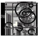 Бирка кабельная маркировочная У-153 квадратная 28х28х0,8мм